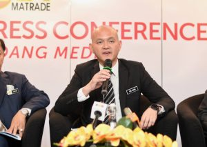 Malaysia's Deputy Trade and Industry Minister Ong Kian Ming speaking a Feb. 4 2020 press conference to announce his country's 2019 trade statistics (Simon Roughneen)