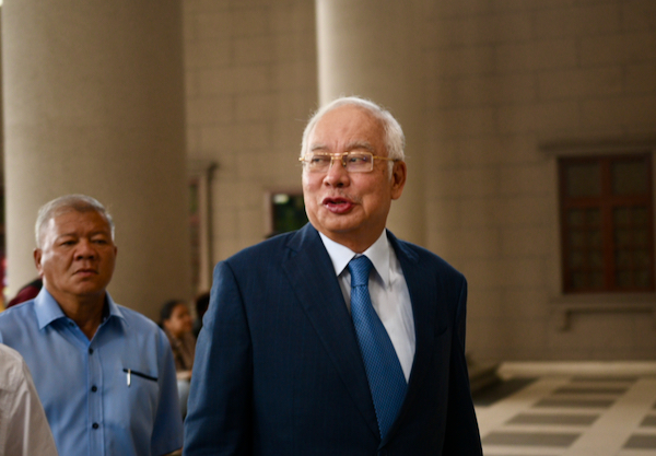 Former Malaysian prime minister Najib Razak arriving at Kuala Lumpur High Court on February 10 2020 for one of his ongoing corruption trials (Simon Roughneen)