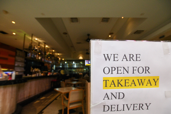 Restaurants are closed durng Malaysia's anti-virus lockdown except for delivert and take-away (Simon Roughneen)