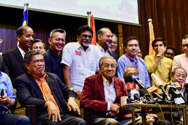 Mahathir Mohamad during late night press conference after the Pakatan Harapan/Alliance of Hope win in May 2018 parliamentary elections (Simon Roughneen)