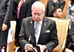 DSC_0134.jpeg April 17, 2020 321 KB 600 by 420 pixels Edit Image Delete Permanently Alt Text Describe the purpose of the image(opens in a new tab). Leave empty if the image is purely decorative.Title DSC_0134 Caption Najib Razak, then Malaysian prime minister, at the 2015 summit of the Association of Southeast Asian Nations held in Kuala Lumpur in 2015 (Simon Roughneen) Description