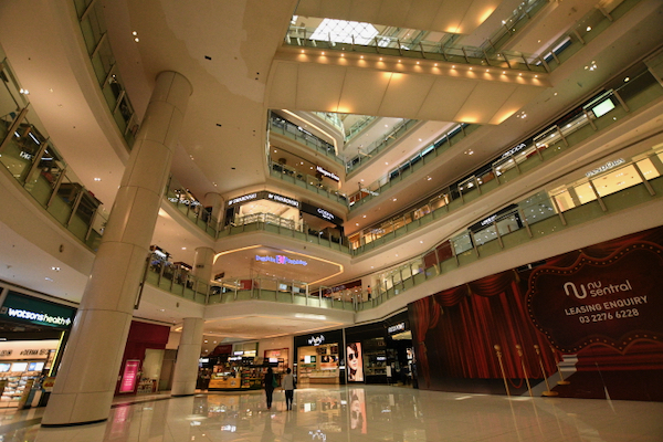 Not many people around in this central Kuala Lumpur mall, more than three weeks after the end of Malaysia's lockdown (Simon Roughneen)