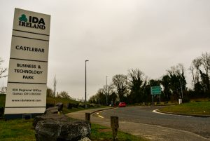Sign outside business park in Castlebar, Ireland. IDA Ireland is the country's main foreign investment agency (Simon Roughneen)