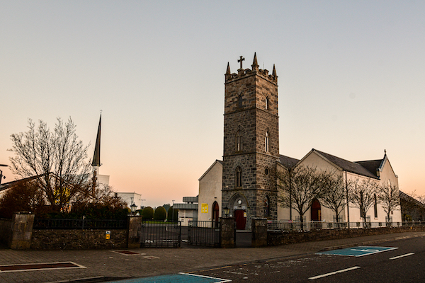 The parish church in the Irish pilgrimage town of Knock, where Mass has not been celebrated in public since late 2020 (Simon Roughneen)