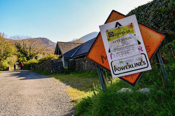 Pandemic curbs led to a collapse in travel and tourism, affecting visitor numbers to attractions such as Croagh Patrick, a pilgrimage mountain on Ireland's Atlantic coast (Simon Roughneen)