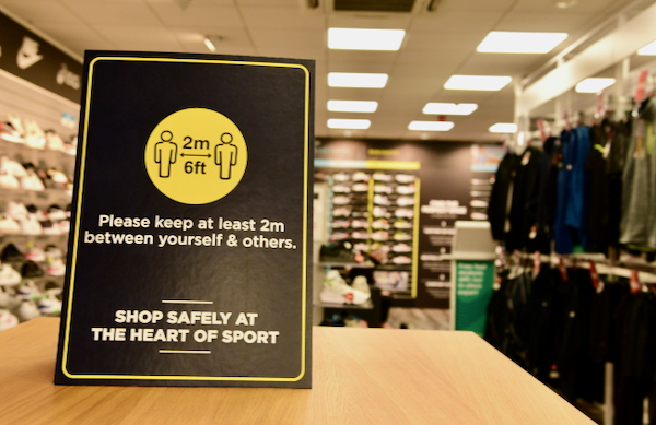 Retaliers deemed 'non essential' such as this sports shop, were not permitted to open during Ireland's pandemic lockdowns (Simon Roughneen)