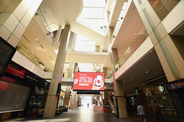 Pandemic restrictions have left city landmarks, such as this mall in Kuala Lumpur seen during Malaysia's first lockdown last year, mostly empty (Simon Roughneen)