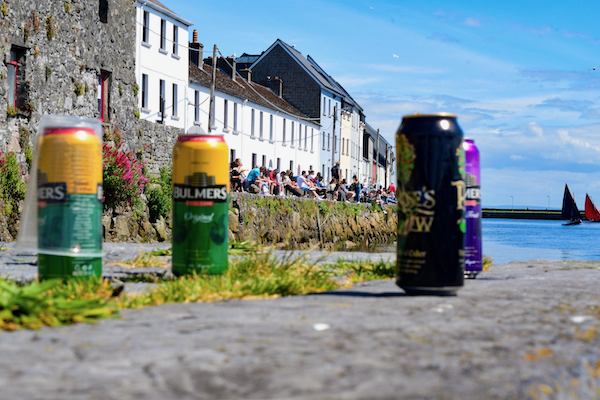 Outdoor drinking on a June Sunday afternoon in Galway (Simon Roughneen)