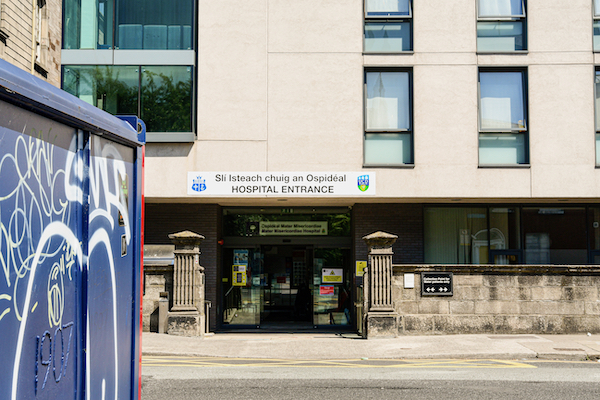 Outside a hospital in Ireland, where the government has been reluctant to publish estimates of infections beyond the official count or give details on related matters such as natural immunity (Simon Roughneen)