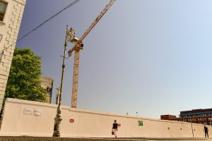 Construction work at Dublin's Mater Hospital in July 2021 (Simon Roughneen)
