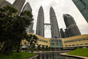 The Petronas Towers in Kuala Lumpur, a famous landmark and tourist attraction and likely to be inundated with visitors if tourism revives (Simon Roughneen)