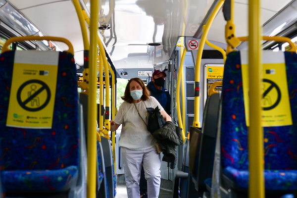 Reduced numbers and mask mandates have been widely imposed on public transport systems as a virus-related restriction (Simon Roughneen)